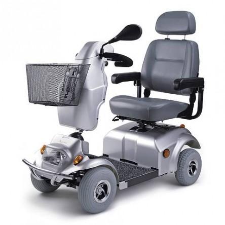 Električni skuter za invalide AGIN, 10 km/h, srebrne barve
