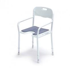 Stol za prhanje z naslonjalom za roke in hrbet, 9401-A